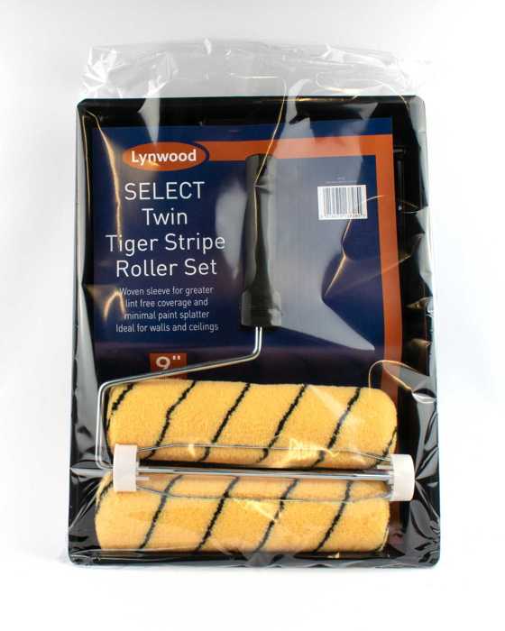"""Picture of Lynwood 9"""" x 1.5"""" Woven Tiger Stripe Roller Set with Spare Sleeve"""