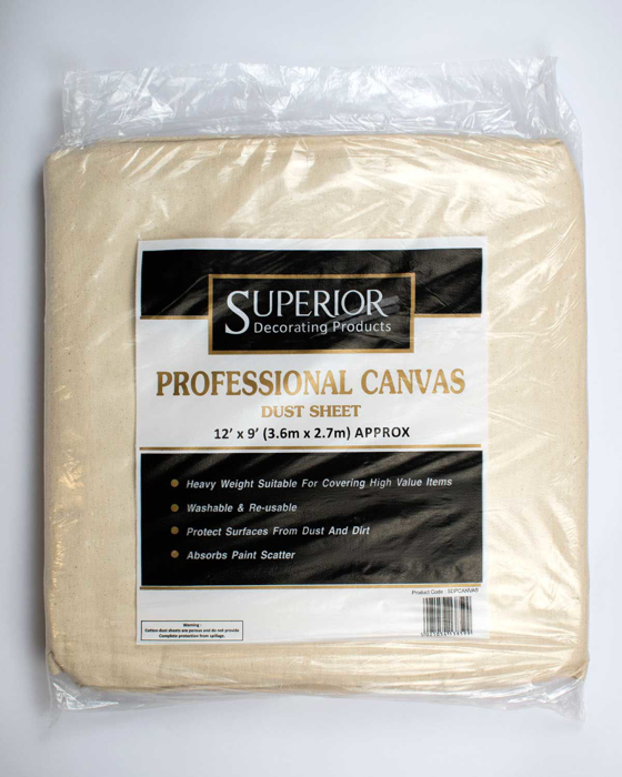 """Picture of Canvas Dust Sheet 12"""" x 9"""""""