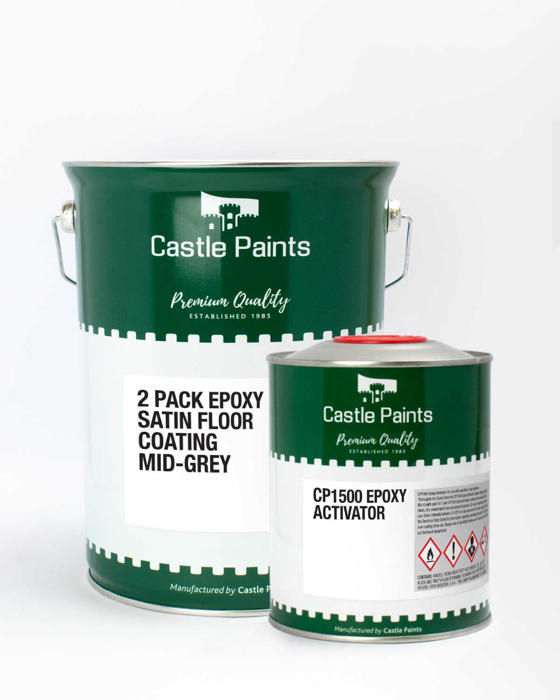 Picture of 2 Pack Epoxy Satin Floor Paint - 5L Kit Grey