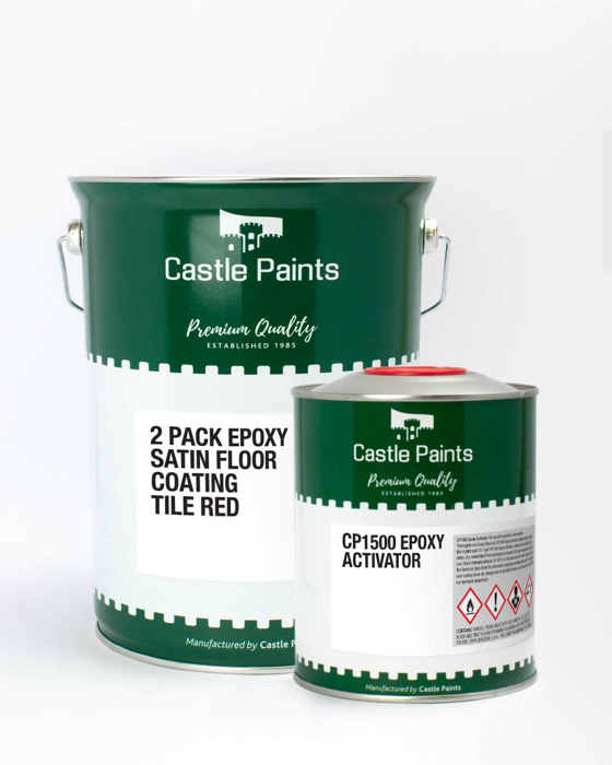 Picture of 2 Pack Epoxy Satin Floor Paint - 5L Kit Red